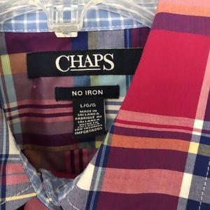 Chaps Tops - Plaid quarter length sleeve top